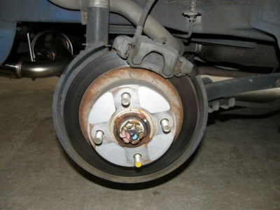 замена задних колодок форд