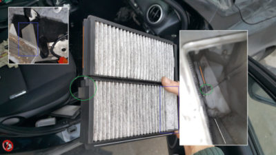 мазда 3 замена салонного фильтра