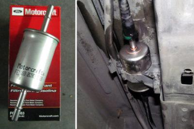 замена топливного фильтра форд фьюжн