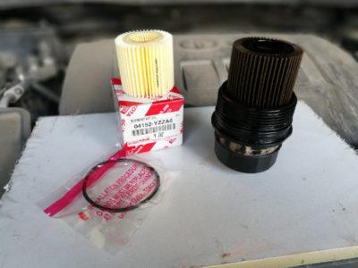 замена масляного фильтра тойота королла