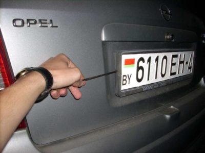 как прикрутить номера на машину