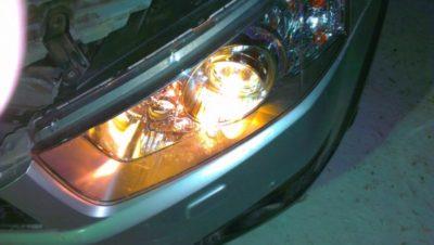 форд мондео замена лампы ближнего света