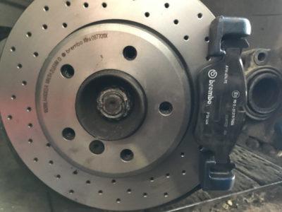пежо 308 замена тормозных дисков