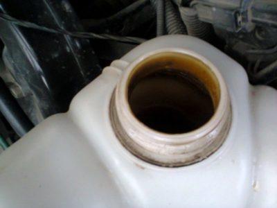 как промыть систему охлаждения от масла