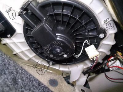 снять вентилятор печки ваз 2114